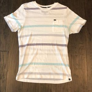 Hurley striped pocket t shirt -M